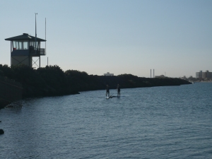 Stand up paddling in St Kilda, Melbourne