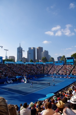 Melbourne skyline at the Australian Open