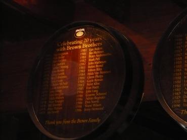 In the cellar door