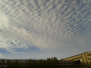 The clouds in Salamanca, Spain