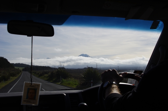 The long white cloud from the car